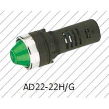 Lâmpada de Sinalização Verde, 22mm Luz Indicadora Amarela, Bule Branco, Vermelho