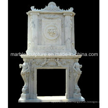 Double Marble Fireplace Surround Mantel (SY-MF031)