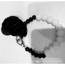 Высокий уровень моды Красивый браслет из силиконового бисера