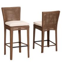 Патио ротанга плетеная Сад Открытый Мебель барный стул стул