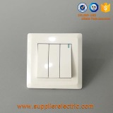 Supply Good Quality 3 Gang 1 Way Wall Switch Push Button Light Switch with Neon