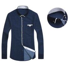 Men Casual Printed Social Business Dress Shirt Brand Men Clothing