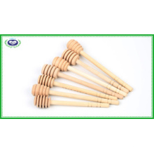 Three Designs 6 Inch Wooden Honey Dipper Sticks