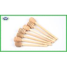 Três desenhos de madeira de 6 polegadas Honey Dipper Sticks