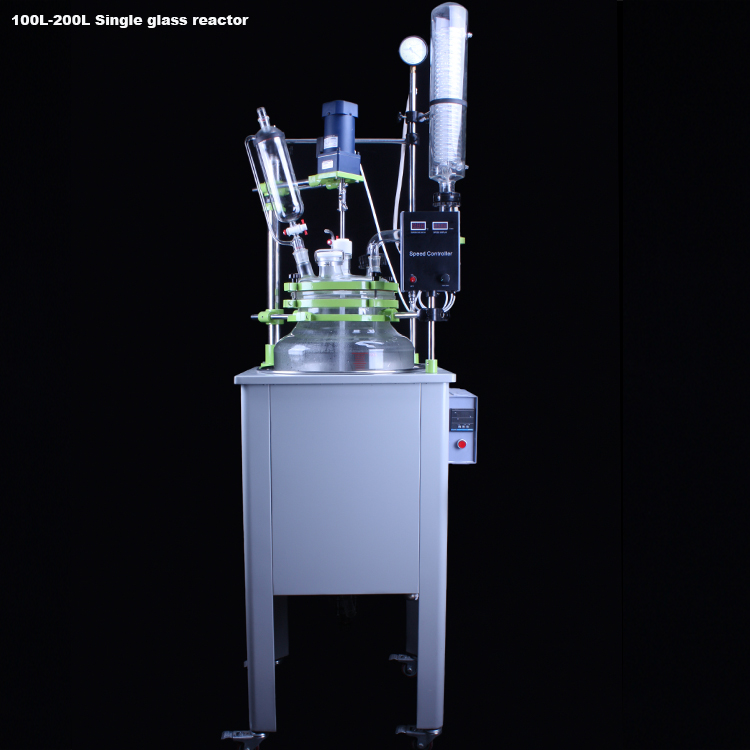 100L single glass reactor