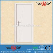 JK-P9063 weiß grob Innenraum pvc mdf bündig Panel Türen für Küchenschrank