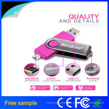 Nueva impulsión del flash del USB del eslabón giratorio OTG de Hotsale USB2.0 de la llegada