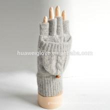 adult girls 100% acrylic fingerless knitted winter gloves manufacturer