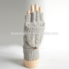Adulto meninas 100% acrílico fingerless malha inverno luvas fabricante