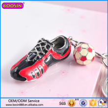 Fabrik Großhandel Sportschuhe und Fußball Charm Schlüsselanhänger #15066