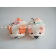 cute mini plush animal keychain