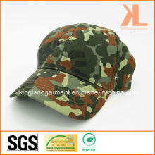 Cotton Drill Army /Military Olive Green Camouflage Print Baseball Cap