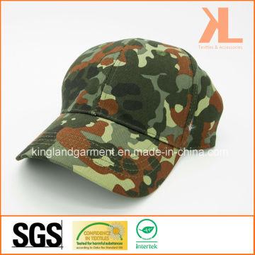 Хлопковая дрель Армия / Военная оливковая зеленая камуфляжная печать Бейсбольная кепка