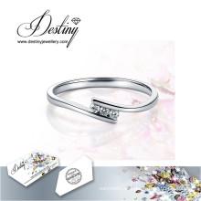 Destino joyería cristal de Swarovski nuevo único anillo de