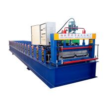 Niedriger Preis Farbe Metall Stahlblech Joint Versteckte Dachplatte Roll Forming Machine