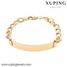 74605 xuping nouveau mode 18k plaqué or femmes bracelet sans zircon