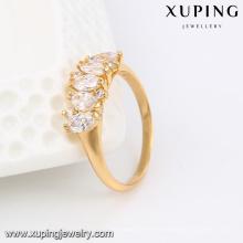 13844 Xuping últimos diseños de anillos de dedo de oro para regalos de niñas de amistad