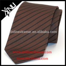 100% handgemachte Seide gewebte Herren Streifen Krawatte
