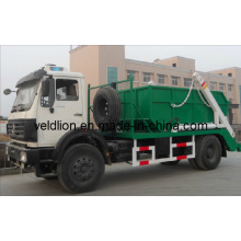 North Benz 4X2 Chassis Swing Arm Garbage Truck