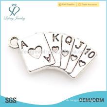 Marokkanische Silberschmucksache-Legierungsspielkartencharme für Charmearmband