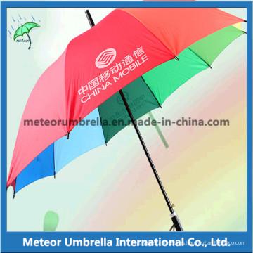 Paraguas de regalo de promoción de arco iris abierto automático de calidad