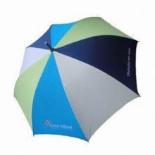 New Style Golf Umbrella, Made of Polyester Fabric, with Full Fiberglass Ribs/Straight EVA Handle