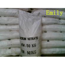 Nitrato de sodio de alta calidad 98.5% -99.3% grado agrícola industrial de la comida