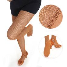 High quality tough latin dance pantyhose fishnet thigh high stockings for women