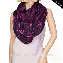 2016 spring/summer100%polyester OEM cheapest fashion star infinity scarf double layer printed loop scarf