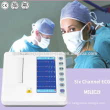 Cheap Digital Electrocardiograph ECG Machine (6 channels)