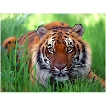 Живопись тигра для домашнего декора