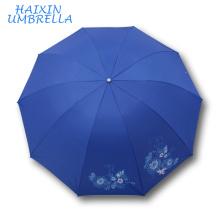 Top Qualité Meilleur Vendeur Promotionnel Revêtement D'argent À L'intérieur Jaipur Grand Marché Pluie Colorée Main Parapluie Sun Fabricant Chine