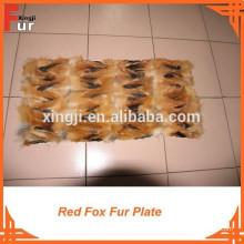 Placa de pele de raposa feita de Red Fox Legs