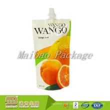 Fabrik Großhandel Tiefdruck Recycelbaren Getränke Paket Kunststoff Fruchtsaft Spouted Tasche