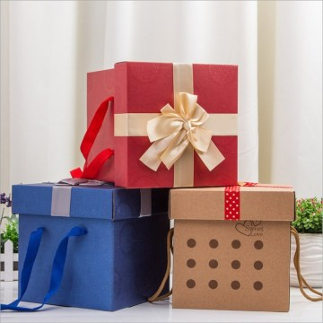 gift packaging boxes with red Ribbons
