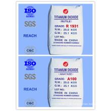Rutilo Econômico e Anatase Grau Dióxido de Titânio (Top 10 Fabricante)