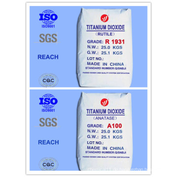 Economy Rutil und Anatase Grade Titanium Dioxide (Top 10 Hersteller)