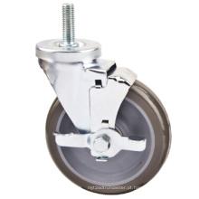 Roda de rodízio de freio lateral da haste roscada industrial de 152 mm Industrial