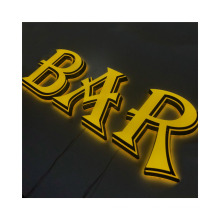 Fashion Customizable Store Outdoor Shop Front Metal Indoor Front lit LOGO Sign Business Letter Sign 3D LOGO