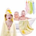 Envoltura de algodón 100% orgánico en amarillo pato extra suave Gran tamaño 82 * 82 cm Tamaño de toalla para bebé