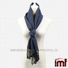 Navy Garn gefärbt klassischen Plaid Schal