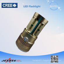 Jexree New Led High Bay Light !! 3xCREE XM-L T6 2500LM 5-Modes LED Accessoires de camping Lampe de poche portable