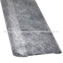 Garments Suppliers Double-sided Hot-melt Adhesive Nonwoven Interlining, 90-150cm Width