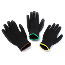 Best Price Breathable Black Nylon PU palm Coated Industrial Safety Working Gloves
