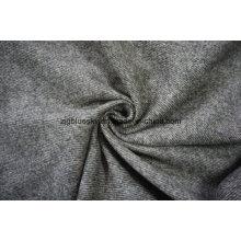 Tissu de laine Flano marron sergé