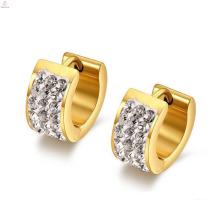 Grands anneaux élégants de boucle d'oreille de mariage d'acier inoxydable d'or