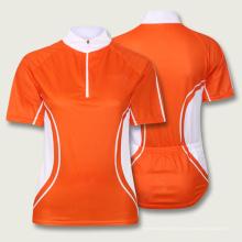 Мода оранжевый полиэстер сублимации Велоспорт Джерси