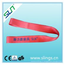 Facteur de sécurité de 5tx1m 7: 1 ceinture de sécurité de levage de polyester