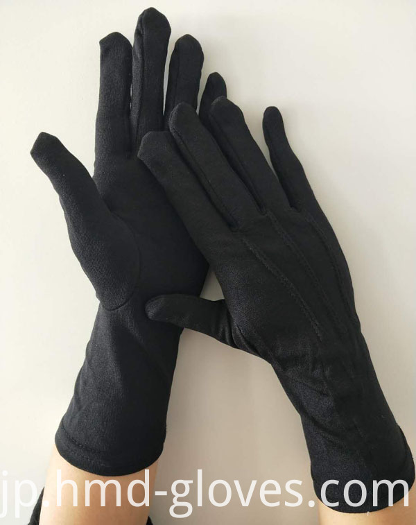 Military Parade Nylon Gloves With Long Wristed