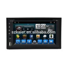 Double Din 6,2 pouces GPS de voiture universel tactile complet avec stéréo, unité centrale gps pour universel avec AUX, MIC, mains libres Bluetooth